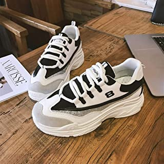 Sports Shoes Female 2019 Spring Korean Version of The Old Shoes Female Small White Shoes Wild Casual Shoes (Color : Black, Size : 39)