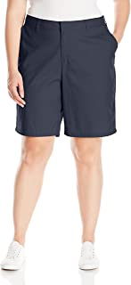 Women's Plus Size Relaxed Fit 9 Inch Flat Front Short