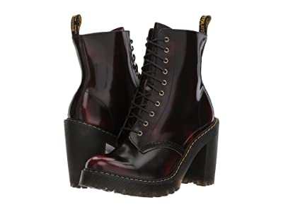Dr. Martens Kendra 10-Eye Boot (Cherry Red/Arcadia) Women