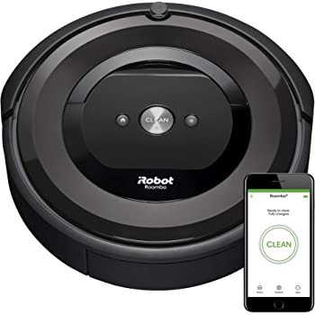 iRobot Roomba E5 (5150) Robot Vacuum - Wi-Fi Connected, Works with Alexa, Ideal for Pet Hair, Carpets, Hard, Self-Charging Robotic Vacuum, Black
