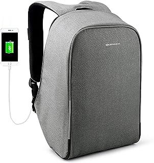 Kopack Waterproof Anti Theft Laptop backpack with USB Charging Port Business ScanSmart Travel bag 15.6 inch Gray Black wit...