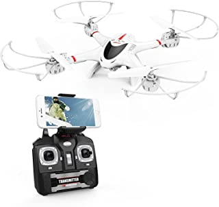 DBPOWER X400W FPV RC Quadcopter Drone with WiFi Camera Live Video One Key Return Function Headless Mode 2.4GHz 4 Chanel 6 Axis Gyro RTF, Compatible with 3D VR Headset