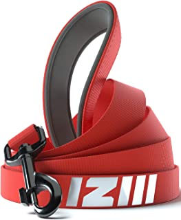 Dog Leash, IIIZI 4 FT Heavy Duty Short Reflective Nylon Strong with Comfortable Padded Handle no Pull for Small Medium and...