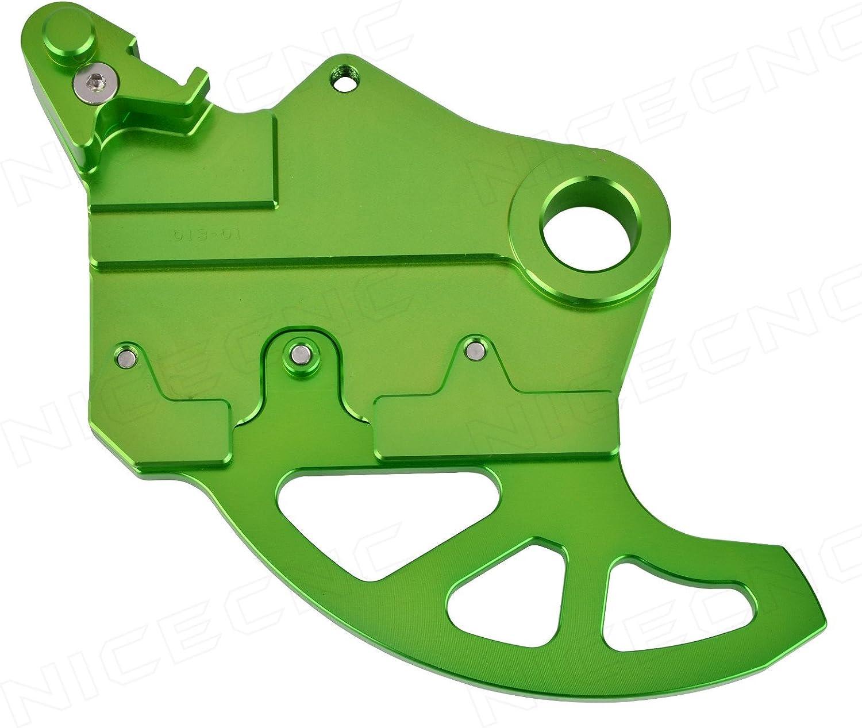 NICECNC Green Rear Brake Disc Guard Protector Replace Kawasaki KLX450R 2008-2010,2012 KX250F 2004-2016 KX450F 2006-2016