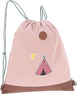 LÄSSIG 儿童运动包带拉绳和背包功能运动包学校幼儿园/迷你丁字裤包,冒险 Altrosa 39 cm