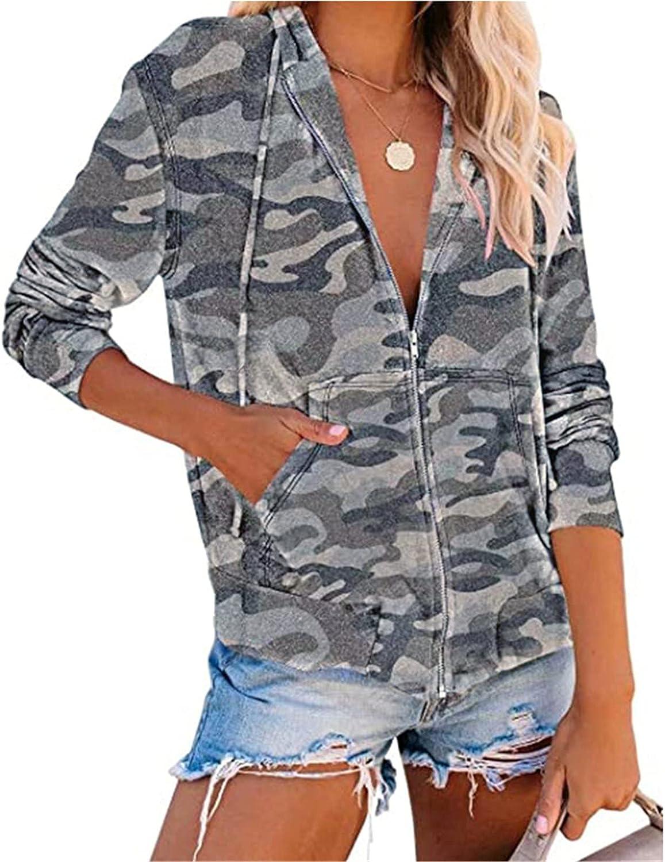 Hoodies for Women Zip Up,Women Casual Heart Print Long Sleeve Pullover Hoodie Sweatshirt Tops