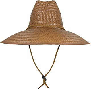 Palm Straw Lifeguard Hat with Wide Brim