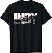 I N D Y with cars Racing T-Shirt
