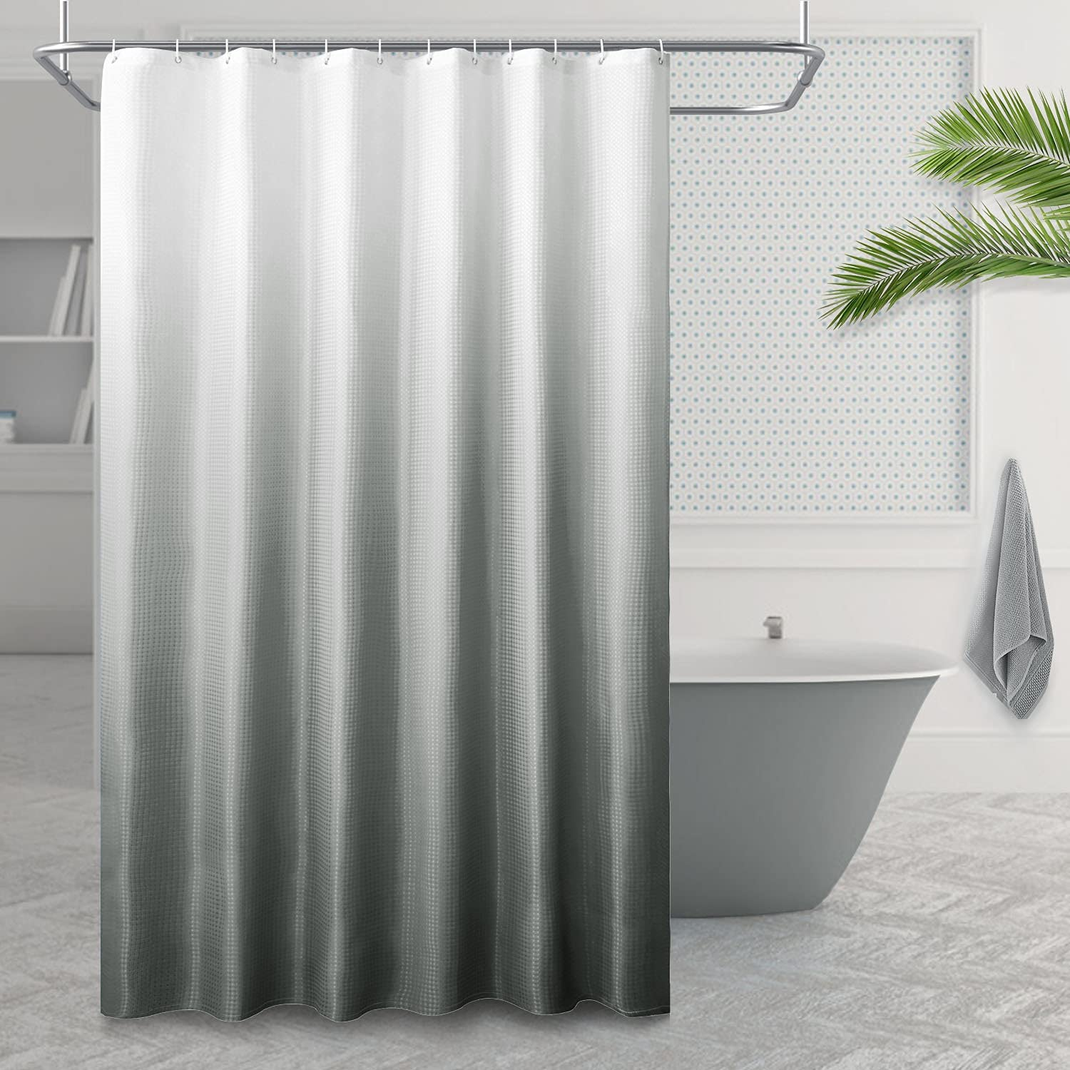 RIORIVA Cheap mail order sales Home Textured Ombre Mesa Mall Fabric Sets Shower Bath Curtains for