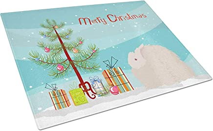 Caroline's Treasures BB9326LCB Fluffy Angora Rabbit Christmas Chopping Board, Large, Multicolor