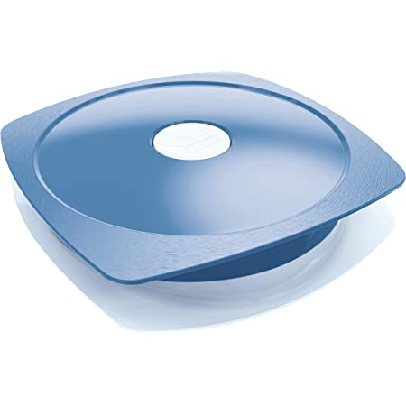 Maped Picnik - Assiette pour Adulte avec Couvercle Étanche - Compatible Micro-Ondes et Lave-Vaisselle - en Plastique Sans BPA - 900ml - Bleu