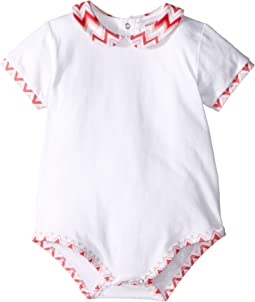 Jersey Zigzag Solid One-Piece (Infant)