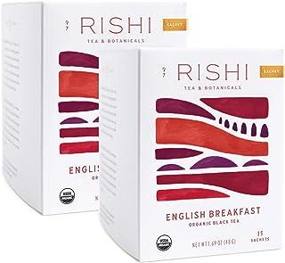 Rishi Tea English Breakfast Herbal Tea | Immune & Heart Support, USDA Certified Organic Black Tea, Caramel Sweetness, Anti...