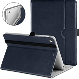 DTTO iPad Mini 1 2 3 Case, Premium Leather Folio Stand Cover Case with Multi-Angle Viewing and Auto Wake-Sleep Function, Front Pocket for Apple iPad Mini 1/Mini 2/Mini 3 - Blue