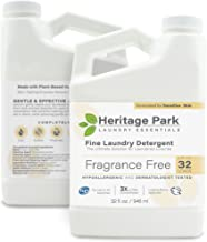 Heritage Park Laundry Detergent - Fragrance Free, Hypoallergenic & Dermatologist Tested - Gentle & Effective PH Neutral Fo...