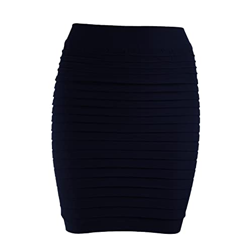 d4b43b40f9b44d Ro Rox High Waist Stretch Bodycon Mini Skirt UK 6-12