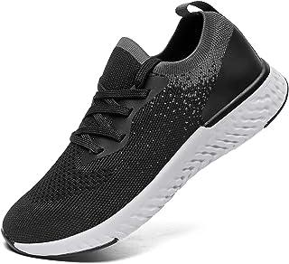 SANNAX Femmes Baskets Mode Chaussures de Sport Décontractées Course Respirantes Confortables