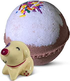 """1 Handmade Bath Bomb For Kids with Surprise Toys Inside""""Cute Dog"""" - All Natural Ingredients with Cocoa Kiss Scent"""