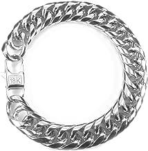 18k Dubai Dual Cuban Link Bracelet 12mm White Gold