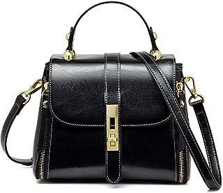 Kleine Handtaschen aus Rindsleder für Frauen, Schultertaschen, Damen-Geldbörsen mit Griff, Crossbody-Taschen für Frauen