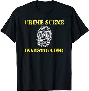 Crime Scene Investigator Fingerprint Detective Police T-Shirt