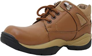 Athlego Leather Trekking and Hiking Shoes for Men in Brown Color