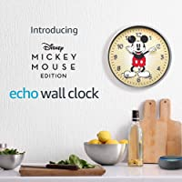 Deals on Amazon Echo Wall Clock Disney Mickey Mouse Edition