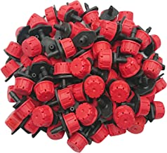 Axe Sickle 100pcs 360 Degree Adjustable Irrigation Drippers Sprinklers Emitters Drip Watering System for Flower beds Vegetable Gardens Lawn Herbs Gardens.