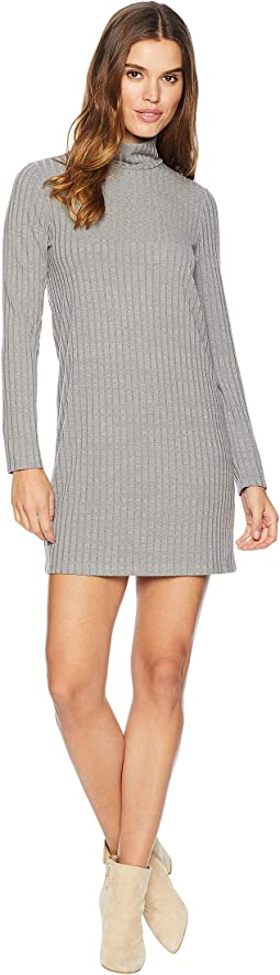 Sweater - Like Rib Dress with Turtleneck KS0K8308
