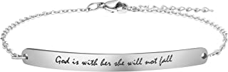 Personalized Gifts for Women Motivational Friendship Bracelets Inspire Mantra Message Engraved