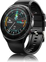 ساعت هوشمند مجهز به تماس ، ساعت مچی کسب و کار ورزشی برای آقایان ، رام 8 گیگابایتی ، ردیاب تناسب اندام با فشار خون SpO2 مانیتور خواب دمای قلب ، ساعت هوشمند ضد آب برای تلفن iOS آندروید