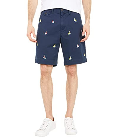 Polo Ralph Lauren 9 Stretch Classic Fit Chino Shorts (Nautical Ink/Sailing Embroidered) Men
