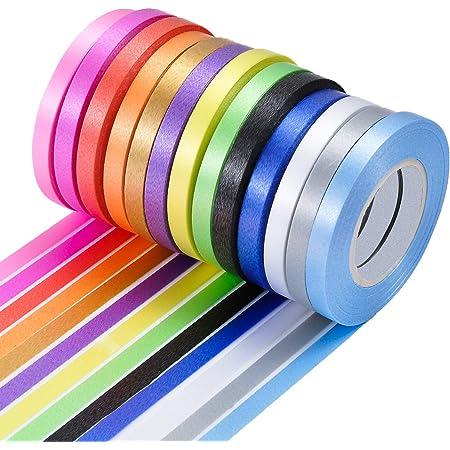 "Lot of 12 Rolls Spools Silver 3//16/"" Wide x 500 yards Curling Ribbon"
