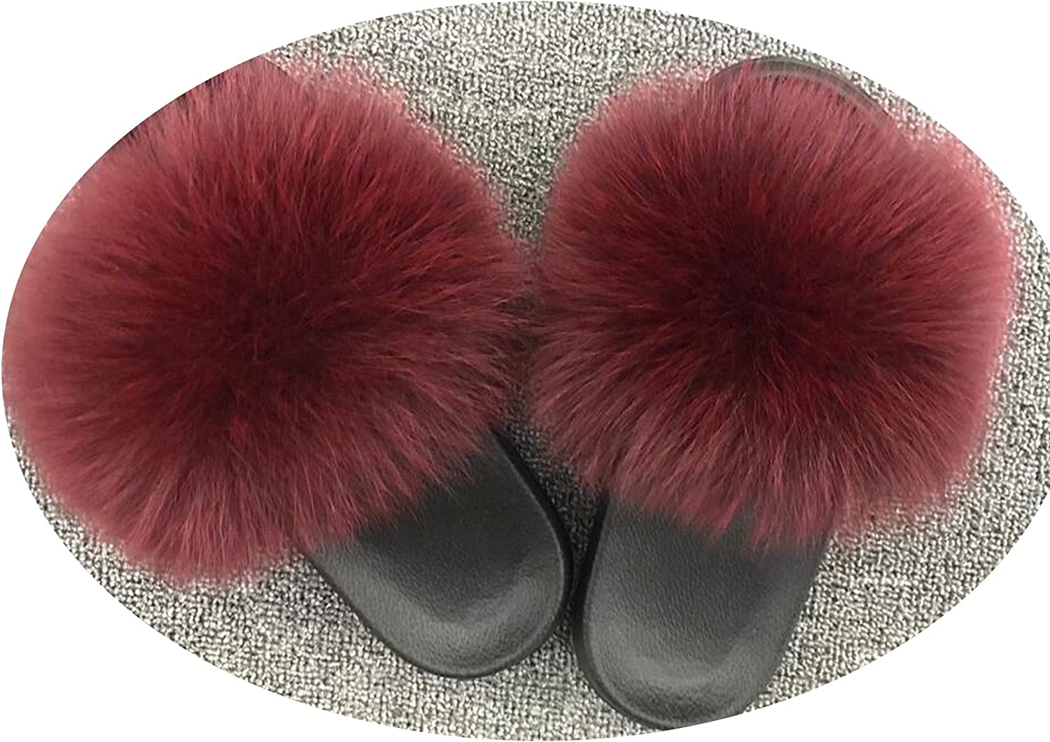 This is not a harm. Real F-ur Slippers Real F-ox F-ur Flat F-Urry Flip Flops,Show, 8.5