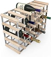 Rta From Samuel Groves Wijnrek 6 x 4 voor 30 flessen grenenhout met verzinkt staal