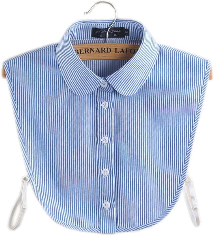 Joyci New Fashion Stripe Fake Collar Half Shirt Blouse False Collar Cotton Dickey
