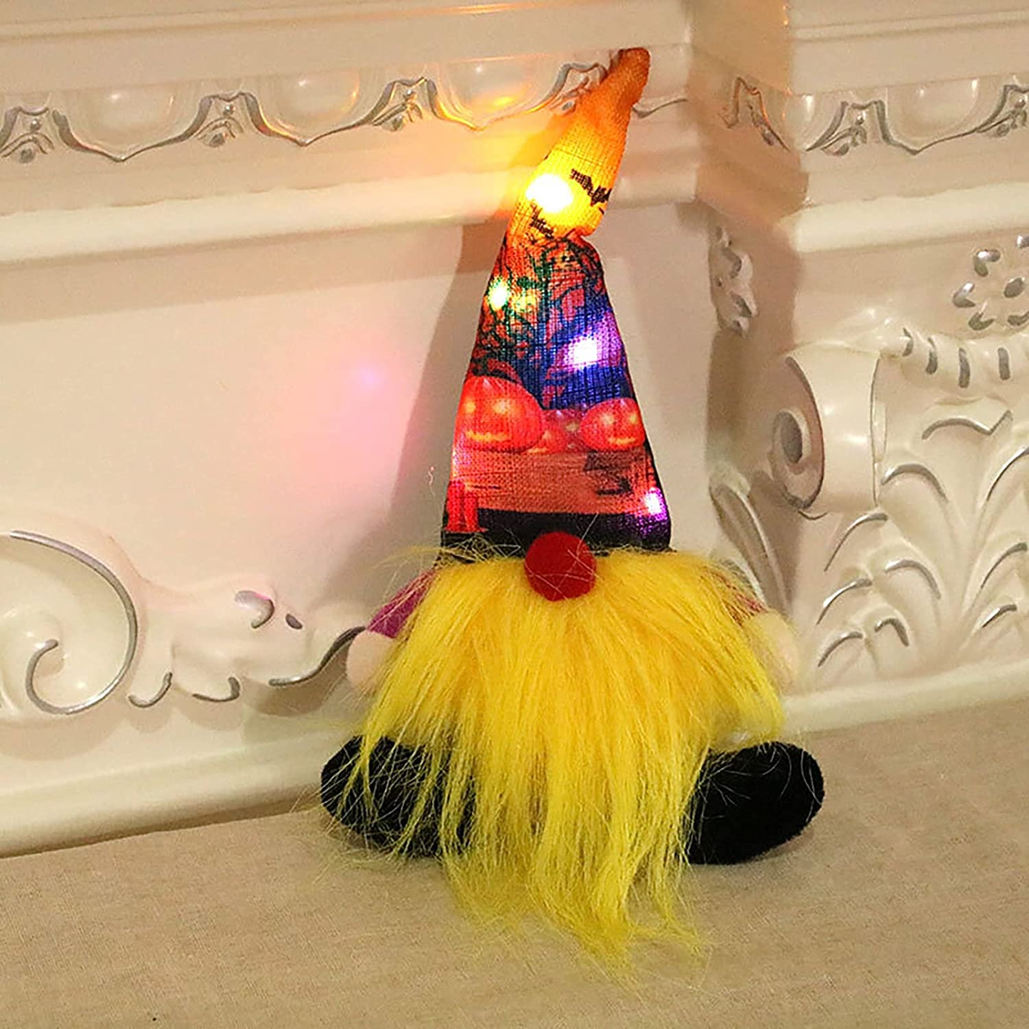 Horryar Halloween Gnomes Luminescent Light Home Dwarf Ornaments In a popularity Al sold out.