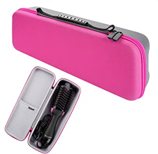 Hard Travel Case for Revlon One Step Hair Dryer and Styler Volumizer, Carrying Pouch Bag with Easy Grip Carry Handle and Premium Zipper (Rose Red)