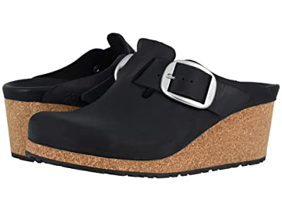 Birkenstock Fanny Big Buckle (Black Oiled Leather) Women