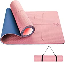 Sportout Yogamat, antislip, yogamat, gymnastiekmat, golfstructuur en optimale bekleding, fitnessmat met draagriem, sportma...