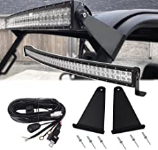 50 inch 288W LED Curved Light Bar Spot/Flood Combo Beam & Upper Roof Windshield Pro-fit Cage Mounting Brackets w/Wiring Kit For Polaris Ranger 570 900 1000 XP Full-Size