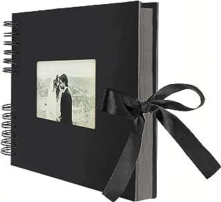 AIOR Album Photo Traditionnel DIY Scrapbook 40 Feuilles (80 Pages), Scrapbooking Album Mariage Livre d'or, Idee Cadeau Cou...