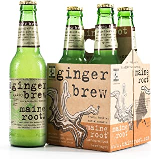 Maine Root Hand Crafted Ginger Brew Soda, 12 fl oz (12 Glass Bottles)