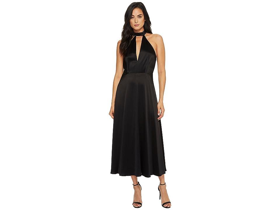 JILL JILL STUART Ankle Length Dog Collar Dress (Black) Women