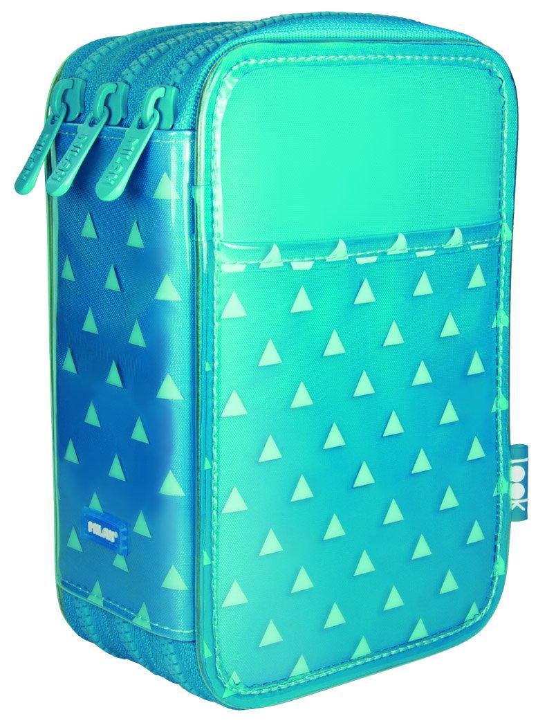 Milan Look 3 Estuches, 20 cm, Azul, poliéster: Amazon.es: Oficina y papelería