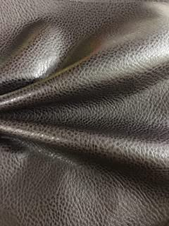 LUVFABRICS Dark Brown Smooth Pebble Look Ford Fake Leather Vinyl for Upholstery, Automotive, Fashion, Leather Damage Repair and More! (Shipped Folded)