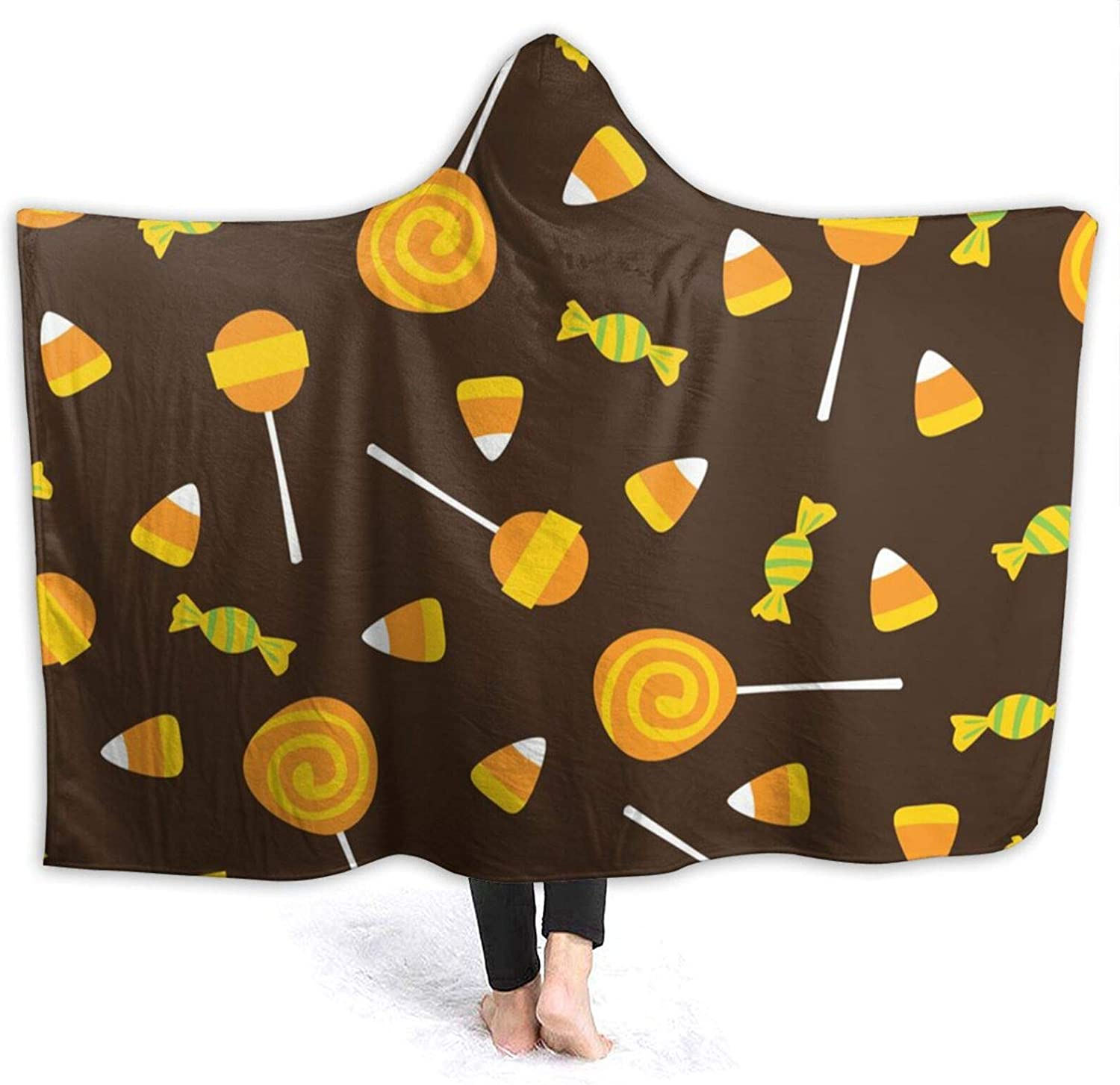 Halloween Max 52% OFF Manufacturer direct delivery Candy Wearable Blanket Throw Stylish for Sofa