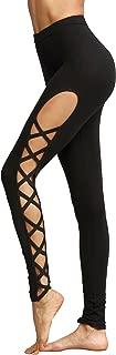 Leggings Women Yoga Workout Pants High Waist Cutout Tights