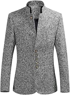 c9f236a174ff Suit Jacket for Men Slim Fit Wool Blazer for Business Wedding Party Long  Sleeve Regular Fit