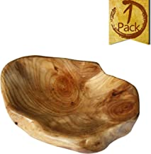 LOL MART Food Storage Root Carving Natural Wood Crafts Serving Tray (A)